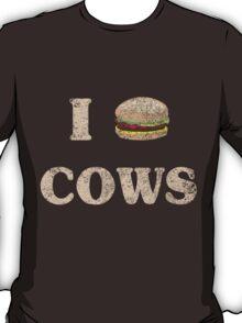 I Love Cows Hamburger T-Shirt