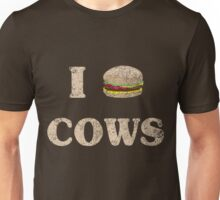 I Love Cows Hamburger Unisex T-Shirt