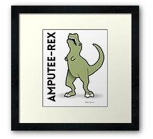 Amputee Rex Framed Print