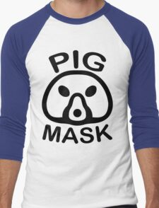 Pigmask (Black) Men's Baseball ¾ T-Shirt