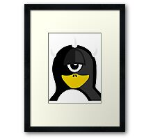 Cyclops Penguin Framed Print