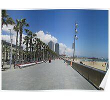 Barcelona beach Poster