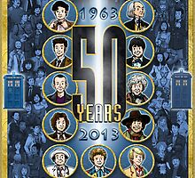 Celebrating 50 Years (police box blue) by marlowinc