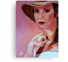 Looking Back 25 Years, A Self Portrait Canvas Print