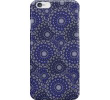 Circular Seasons - Black & Blue iPhone Case/Skin