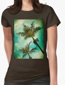 Swaying Palms Womens Fitted T-Shirt