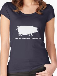 I like pig butts and can not lie Women's Fitted Scoop T-Shirt