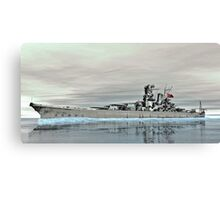 Battleship Yamato  Canvas Print