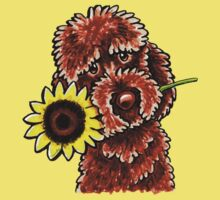 Sunny Chocolate Labradoodle One Piece - Short Sleeve