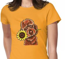 Sunny Chocolate Labradoodle Womens Fitted T-Shirt