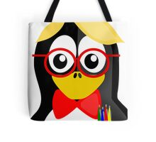 Nerd Penguin Tote Bag
