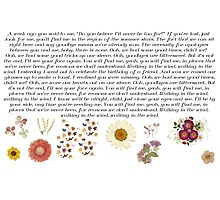 One Direction 'Walking in the Wind' Lyrics + Pressed Flowers Photographic Print