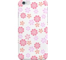 pink white flowers iPhone Case/Skin