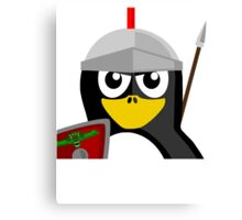 Roman Warrior Penguin Canvas Print