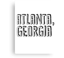 Atlanta, Georgia Canvas Print