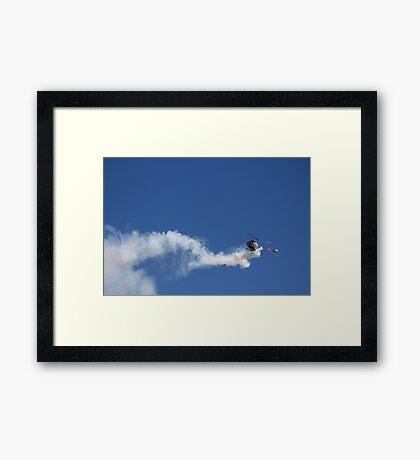 Reverse Flying Schweizer Helo Framed Print