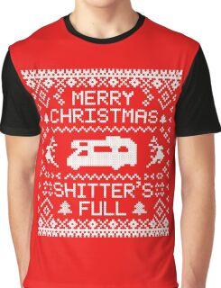 Shitter's Full - Merry Christmas Graphic T-Shirt