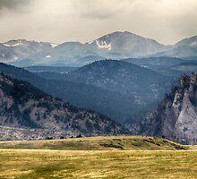 Eldorado Canyon and Continental Divide Above by Bo Insogna