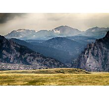 Eldorado Canyon and Continental Divide Above Photographic Print