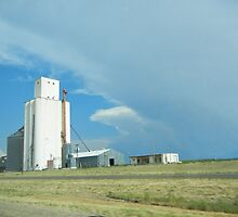 Grain Elevator, Texas Panhandle by CandyApplCrafts