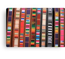 Colorful Cloth and Leather Belts Canvas Print