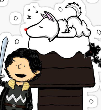 Snow Peanuts Sticker