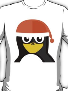 Orange Hat Penguin T-Shirt