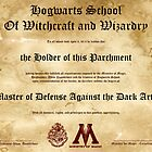 Official Hogwarts Diploma Poster - Defense Against the Dark Arts by eaaasytiger