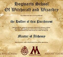 Official Hogwarts Diploma Poster - Alchemy by eaaasytiger