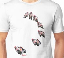 Marco Simoncelli going down the corkscrew at laguna seca 2011 Unisex T-Shirt