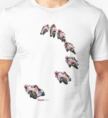 Marco Simoncelli going down the corkscrew at laguna seca 2011 Unisex T-Shirt