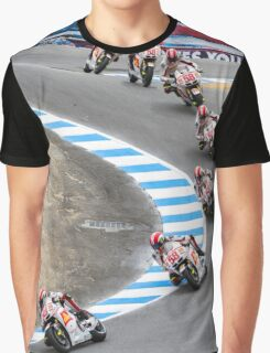 Marco Simoncelli going down the corkscrew at laguna seca 2011 Graphic T-Shirt