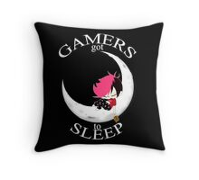 Gamers Got To Sleep (moon edition) Throw Pillow