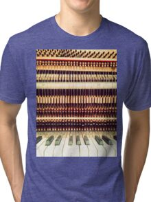 Wooden Frame Piano Tri-blend T-Shirt