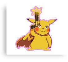 Golden Gun Pikachu Canvas Print