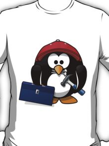 Construction Penguin T-Shirt