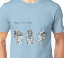 As simple as- ABC (sign language) Unisex T-Shirt