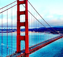 Golden Gate Bridge View iPhone Case by aschwall33