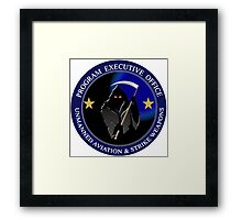 Unmanned Aviation and Strike Weapons Logo Framed Print