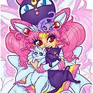 Sailor Mini Moon & Space Kitties by Penelope Barbalios