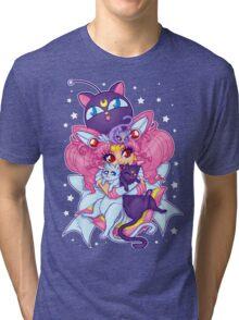 Sailor Mini Moon & Space Kitties Tri-blend T-Shirt