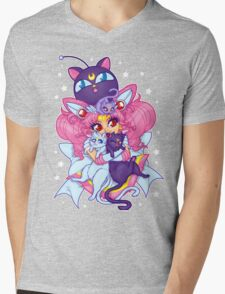 Sailor Mini Moon & Space Kitties Mens V-Neck T-Shirt