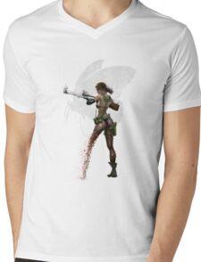 Silent Mercenary Mens V-Neck T-Shirt