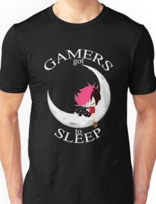 Gamers Got To Sleep (moon edition) Unisex T-Shirt