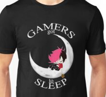 Gamers Got To Sleep (moon edition) Unisex T-Shirt
