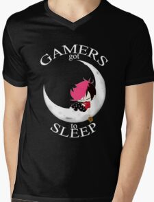 Gamers Got To Sleep (moon edition) Mens V-Neck T-Shirt