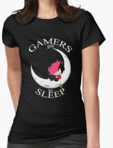 Gamers Got To Sleep (moon edition) Womens Fitted T-Shirt