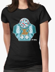 DJ Rudolph Reindeer Womens Fitted T-Shirt