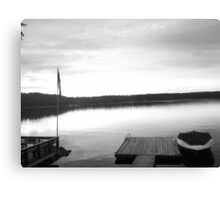 The Lake (Black and White) Canvas Print