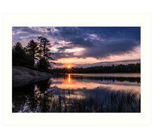 Sunset Massasauga Provincial Park Art Print